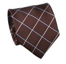 Brown Checked Tie
