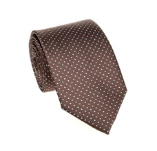 Brown and Blue Dots Tie