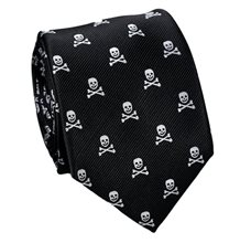 Black Tie with Grey Skulls