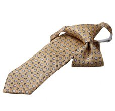 Yellow Boy's Tie with Flowers