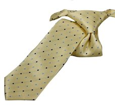 Yellow Boy's Tie with Dots