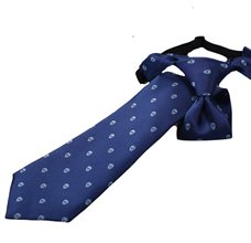 Blue Boy's Ties with skull