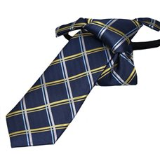 Blue Boy's Tie with Yellow Square