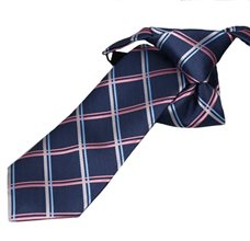 Blue Boy's Tie with Pink Square