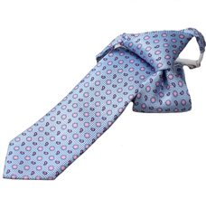 Blue Boy's Tie with Flowers