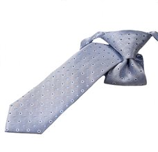 Blue Boy's Tie with Dots