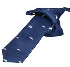 Blue Boy's Tie with Cars