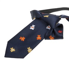 Nvy Blue Boy's Tie with Teddy Bears