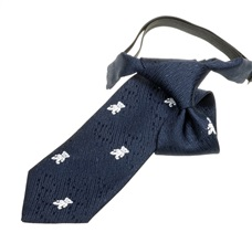 Navy Blue Boy's Tie with White Bears