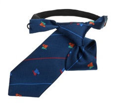 Navy Blue Boy's Tie with Dogs