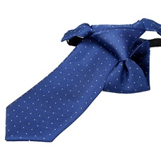 Blue Boy's Tie with White Dots