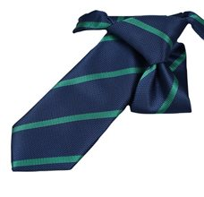 Blue Boy's Tie with Stripes