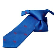 Royal Blue Boy's Tie with Bikes