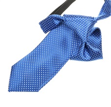 Royal Blue Boy's Tie with White Dots
