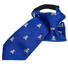 Royal Blue Boy's Tie with White Teddy Bears