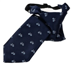 Dark Blue Bicycles Boy's Tie