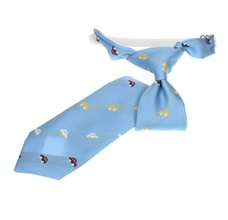 Sky Blue Cars Boy's Tie