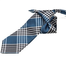 Tartan Black and Blue Boy's Tie
