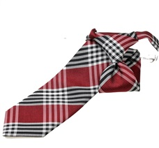 Red and Black Tartan Boy's Tie