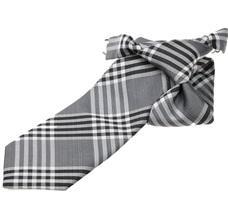 Tartan Black and Grey Boy's Tie