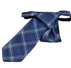Boy's Tie with Blue Square