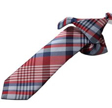 Red Boy's Tie with Checkered