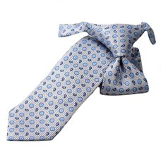 Grey Boy's Tie with Flowers