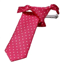 Fuchsia Boy´s Tie with White Dots