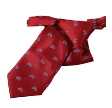 Garnet Boy's Tie with Bicycles