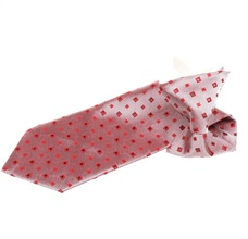 Garnet Checked Boy's Tie