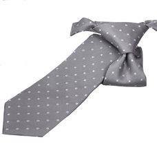Grey Boy's Tie with Dots