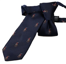 Dark Blue Boy's tie Horseman