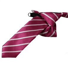 Magenta Stripes Boy's Tie