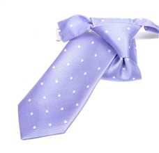 Mauve Boy's Tie with White Dots
