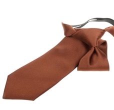 Brown Boy's Tie