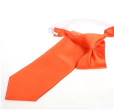 Orange Boy's Tie
