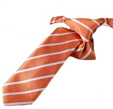 Orange Stripes Boy's Tie