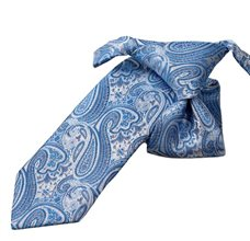 Blue Boy's Ties with Paisley