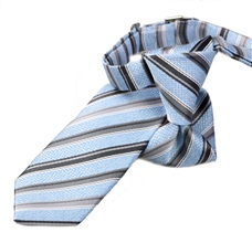 Blue Stripes Boy's Tie