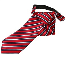 Red and Blue Stripes Boy's Tie