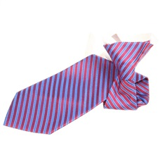 Blue and Red Stripes Boy's Tie