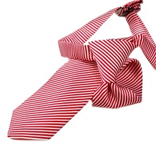Red and White Stripes Boy's Tie