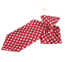 Red Boy's Tie with White Elephants