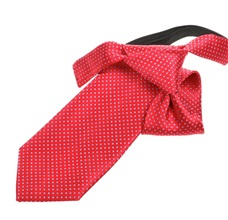 Red Boy's Tie with Blue Dots