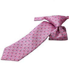 Pink Boy's Tie with Flowers