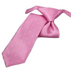 Pink Boy's Tie with Dots