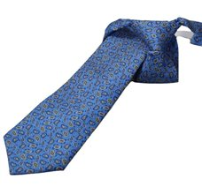 Royal Blue Silk Boy's Tie with Paisley