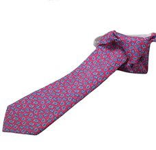 Red Silk Boy's Tie with Paisley