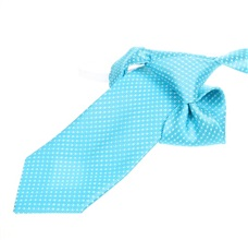 Turquoise Boy's Tie with White Dots
