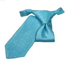 Turquoise Boy's Tie with Dots